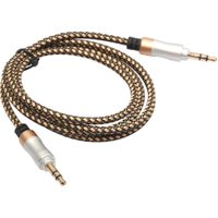 1M/3FT 3.5mm Aux Cable Gold Plated Male to Male Car Computer MP3 DVD Audio Line 3.5mm Cable for Mobile Phones